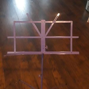 Portable extendable purple music stand